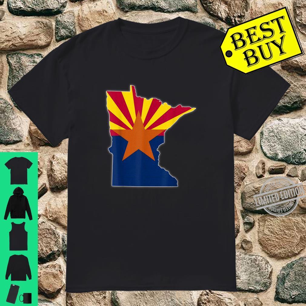 MINNESOTA STATE MAP ARIZONA AZ Flag Roots Shirt